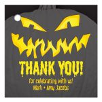 Scary jack-o-lantern pumpkin personalized Halloween party favor tags