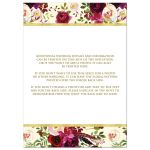 Burgundy, marsala, cream, white, gold watercolor flowers and feathers wedding invitation for bohemian wedding.