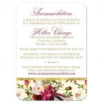 Burgundy, red, cream, white, gold watercolor flowers and feathers wedding reception and accommodations enclosure card insert for elegant bohemian wedding.