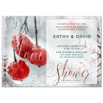 Winter Love Couple's Baby Shower Invitation