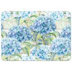 Rustic blue hydrangea flower wedding invitation back