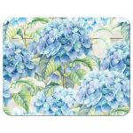 Rustic blue hydrangea flower wedding RSVP card back