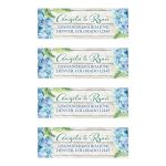 ​Rustic blue hydrangea flower wedding return address labels