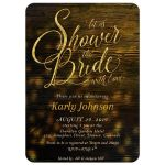 Rustic Lights Bridal Shower the Bride Party Invitation