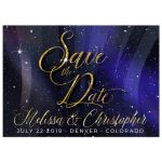 Night Sky Snow Winter Universe Save the Date