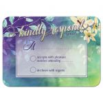 Floral Watercolor Response RSVP REPLY Card