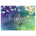 Purple Blue Green Watercolor RSVP Card