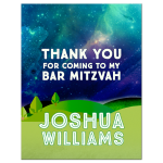 Great Outdoors Bat Mitzvah Thank You Card