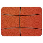 Sports blue and orange jersey basketball Bar Mitzvah reception insert card back