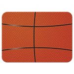 Sports blue and orange jersey basketball Bar Mitzvah RSVP card back