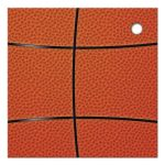 Sports blue and orange basketball Bar Mitzvah favor tags back