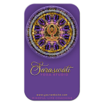 Mandala Yoga Goddess Purple and Gold Business Card