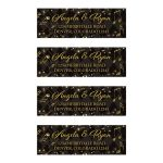 Elegant black and gold harlequin music wedding address labels