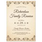 Elegant family reunion invitations with tree and roots