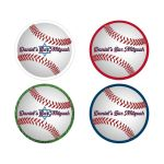 "Personalized 2"" round ​Baseball or Softball Bar Mitzvah, Bat Mitzvah or birthday party envelope seals or party favor stickers."