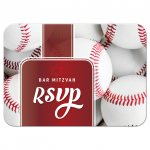 Sports Baseball Bar Mitzvah RSVP Card