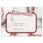 Baseball Sports Bar Mitzvah RSVP Card