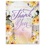 Birdcage Floral Thank You Card A2