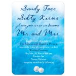 beach sand and ocean waves wedding invitation