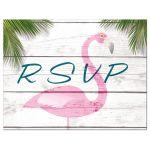 Pink Beach Flamingo Bat Mitzvah RSVP