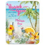 Summer Vibe Beach Bat Mitzvah Thank You Card