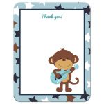 Rock Star Monkey Flat Thank You Note