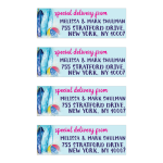 Surfboard Beach Ball Beach themed Mailing Labels