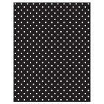 Chic black, white, turquoise polka dot Bat Mitzvah reception card back