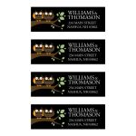 Cute Owls on a Branch Camping Address Labels