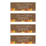 Fall Autumn Customized Address labels