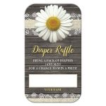 Diaper Raffle Cards - Daisy Burlap and Lace Rustic Wood