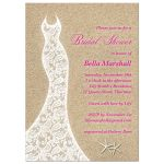 Pink Beach Bridal Shower Invitation