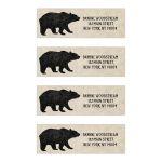 Rustic Black Bear Return Address Labels