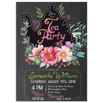 Teapot Silhouette Tea Party Shower Invitation