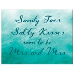 Lesbian Turquoise Ocean Waves Save the Date Postcard