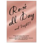 Rose Gold and Black Wine Tasting Party Invitation