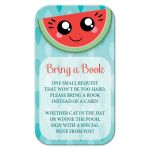 Bring a Book Cards - Happy Smiling Watermelon Slice