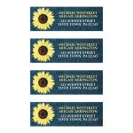 Address Labels - Rustic Sunflower and Denim