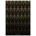 Gold Black Art Deco Wedding Invitation (back)