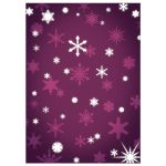 Purple Winter Wedding Invitation with Snowflakes