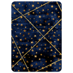 Navy Blue Watercolor and Gold Stars Bar Mitzvah Invite
