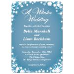 Light Blue Winter Wedding Invitation with Snowflakes
