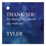 Constellation Outer Space Thank You Favor Tag