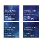 Constellation Outer Space Thank You Square Stickers