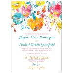 Tropical Watercolor Floral Wedding Invitation