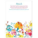 Tropical Watercolor Floral Wedding Invitation