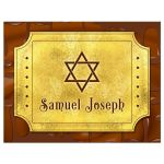 ​Chocolate golden ticket Bar Mitzvah thank you postcard or golden ticket Bat Mitzvah thank you postcard