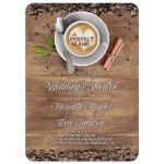 A perfect blend coffee themed wedding shower invitation for a couple shower or a bridal shower front