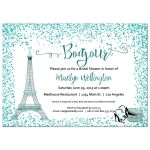 Teal Paris Bridal Shower