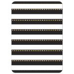 Gold Black and White Stripes